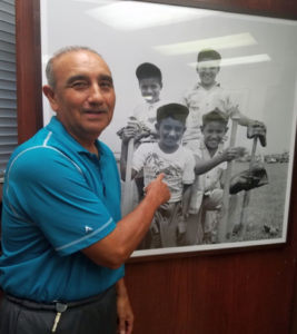 Photo of George Morales, Jr. then and now